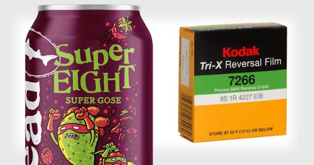 Questa birra è stata concepita per sviluppare la pellicola Kodak Super 8