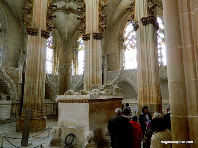Túmulos de D. João I e da rainha Felipa de Lencastre na Capela do Fundador do Mosteiro da Batalha