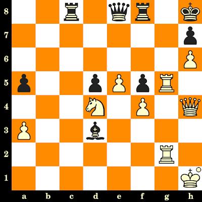 Les Blancs jouent et matent en 3 coups - Wolfgang Unzicker vs I Husain, Lucerne, 1982