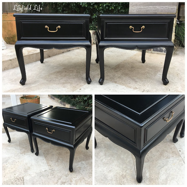 french provincial black bedside tables Lilyfield life