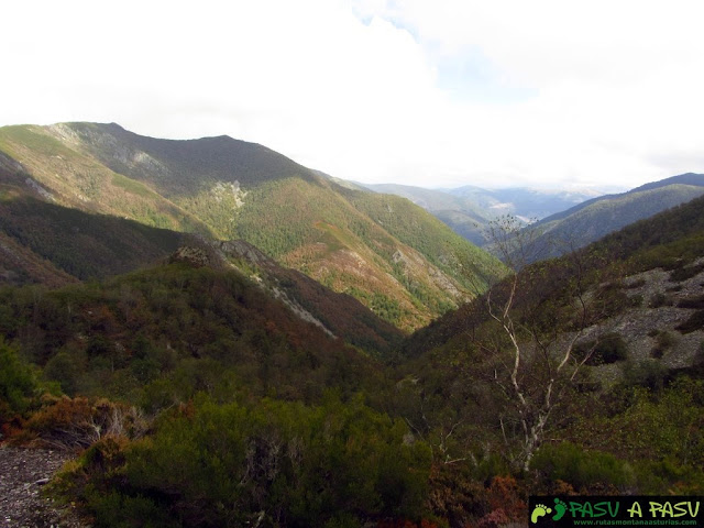 Vista del Valle de Muniellos desde Laguna La Isla