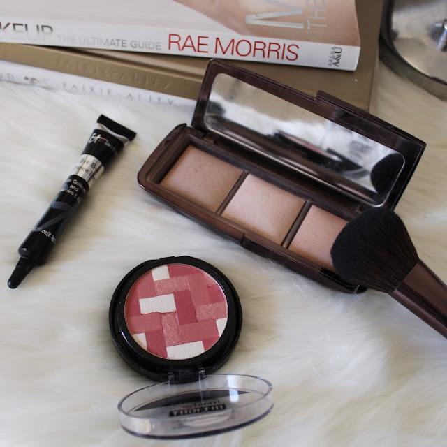 Hourglass cosmetics, it cosmetics, bye bye under eye, maybelline, flatlay, makeup porn