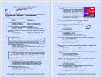 Di bawah ini yaitu naskah soal ujian PAS  Soal PAS Kelas 4 Tema 2 Semester 1 Tahun Pelajaran 2021 / 2021