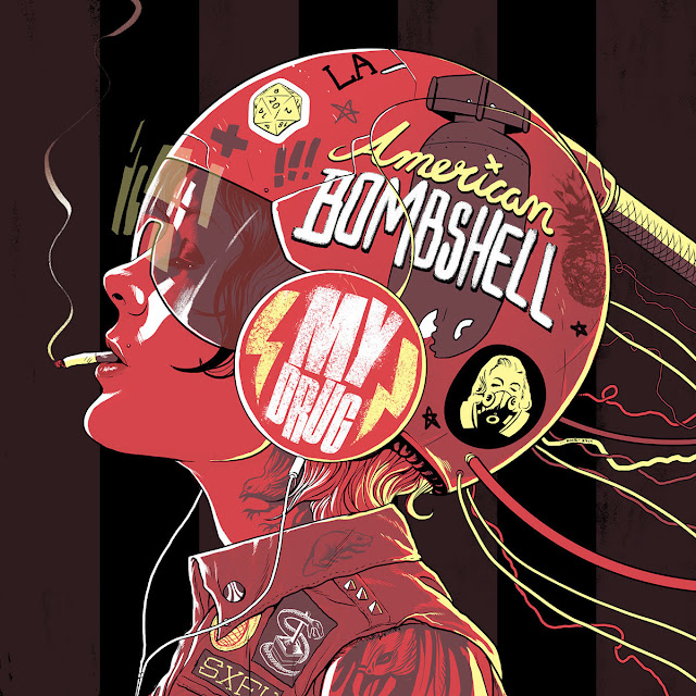 American Bombshell - Illustration by Adam J Rosenlund
