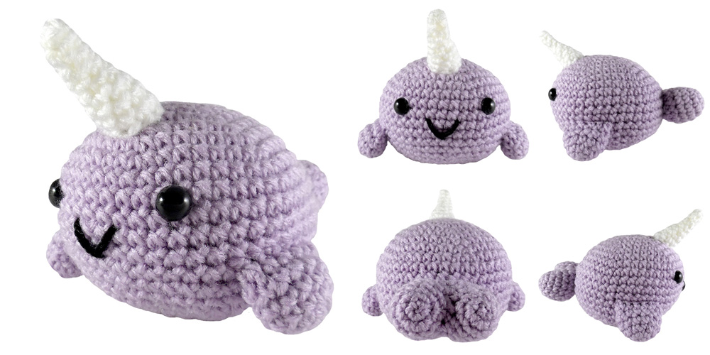 Ned and Norman Crochet Narwhal Pattern | 500x1000