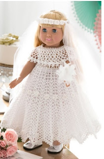 Free Crochet Doll Wedding Dress Pattern