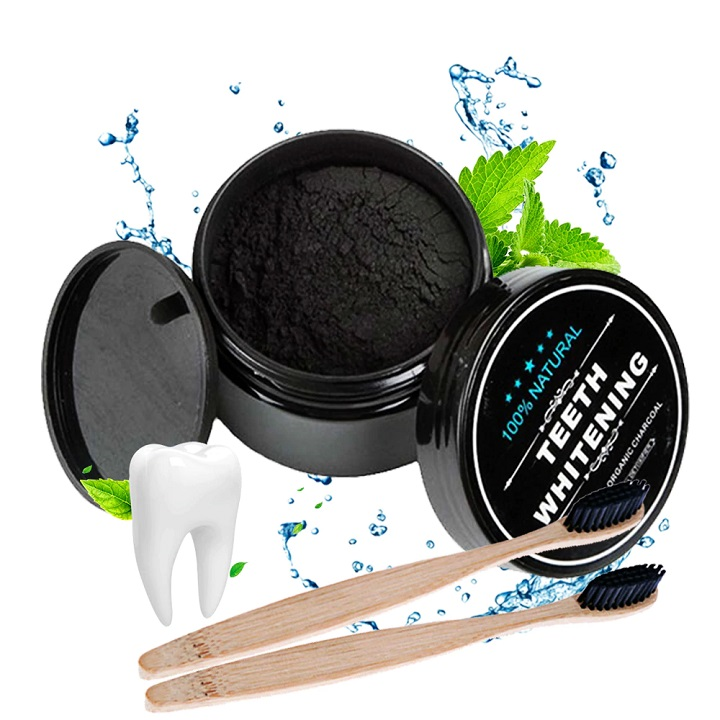 Features:  The activated charcoal formula is safe to use for whitening your teeth while being easy on your gums. Naturally whitens your teeth, not through harsh dental-grade whitening peroxides, but through the power of Activated Charcoal, nature¡¯s best purifies and detoxifiers. Unique formula whitens your teeth over time, and helps remove stains from a number of causes: coffee-stains, wine, cigarettes, and more - all without harsh chemicals or bleach. We believe you will get the most confident smile process 'adsorption' after using the products! Get the perfect bright smile!