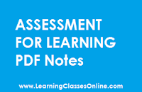 Assessment for Learning study material, Assessment for Learning in engilsh, Assessment for Learning ebook, Assessment for Learning b.ed,