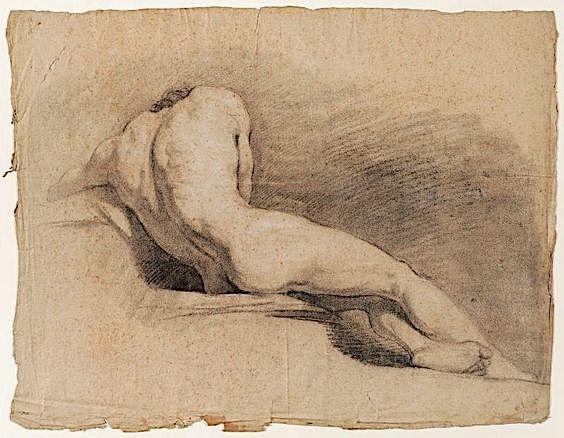 Jacques Réattu (1760-1833) Étude de nu masculin Dessin. Musée Réattu, Arles