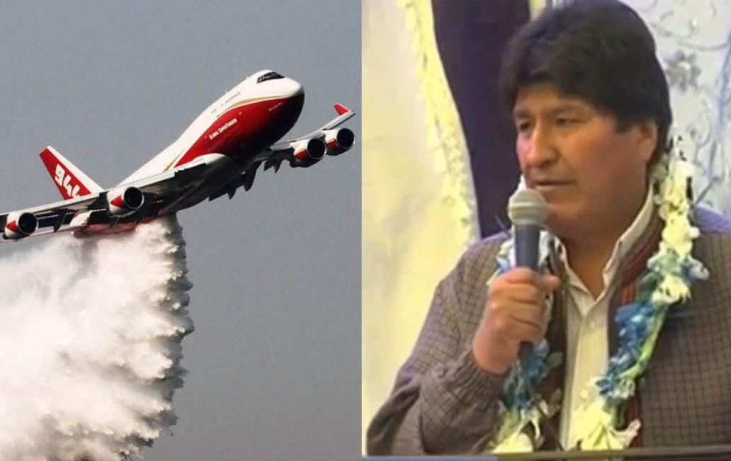Evo Morales creó Gabinete de Emergencia Ambiental y contrata avión supertanque para combatir incendios