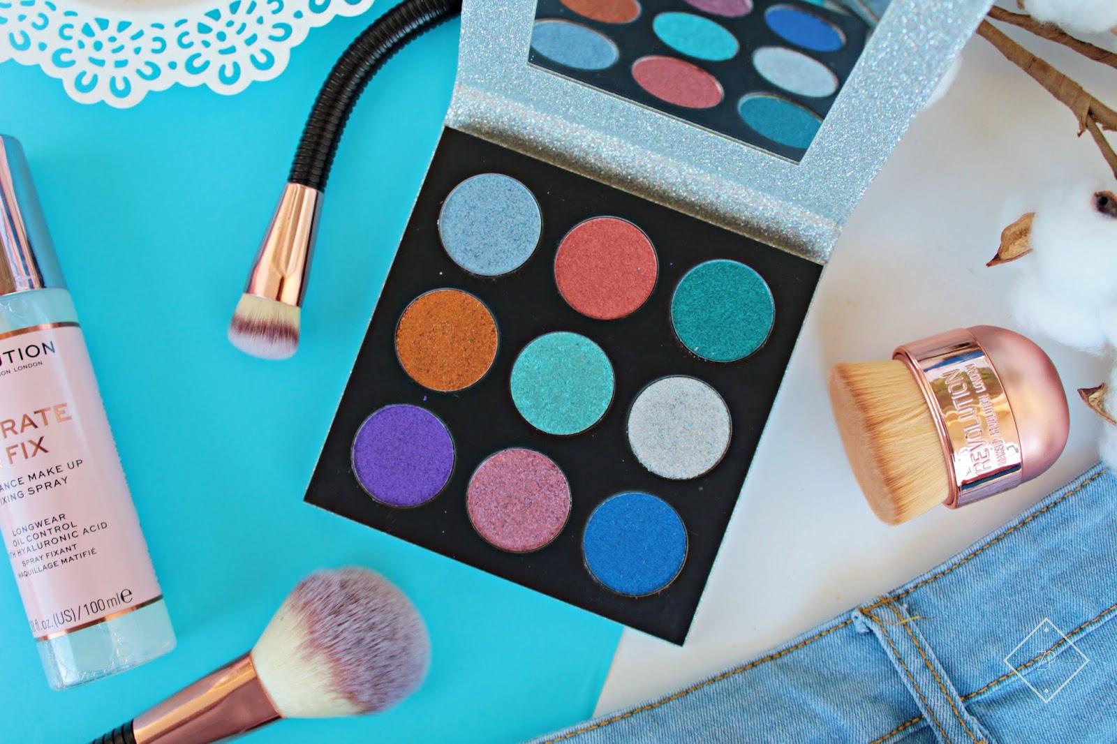 Makeup Revolution Paleta prasowanych brokatów ILLUSION