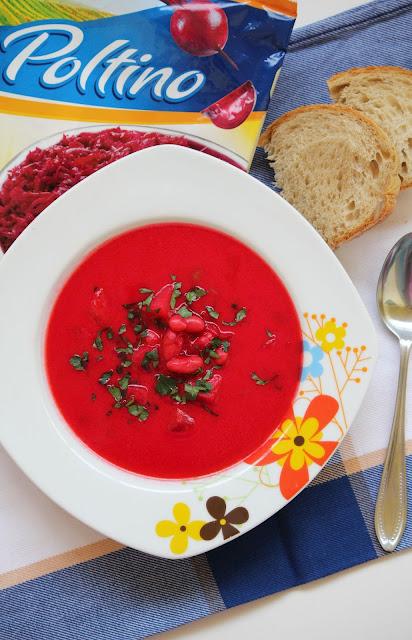 zupa, buraki, mrożone buraki