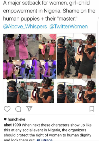 """A major setback for women, girl child empowerment"" Reuben Abati reacts to video of two women on dog leash"