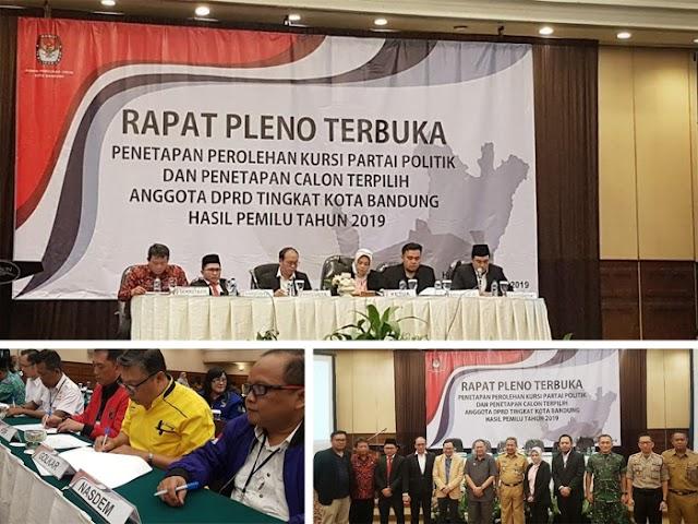 Inilah Nama-Nama Caleg Terpilih Anggota DPRD Kota Bandung Pemilu 2019