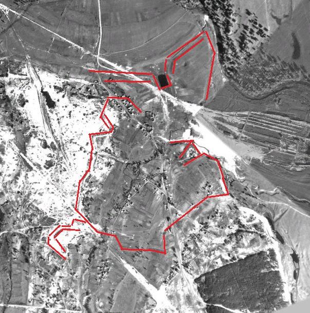 Очертания крепости на территории Киева