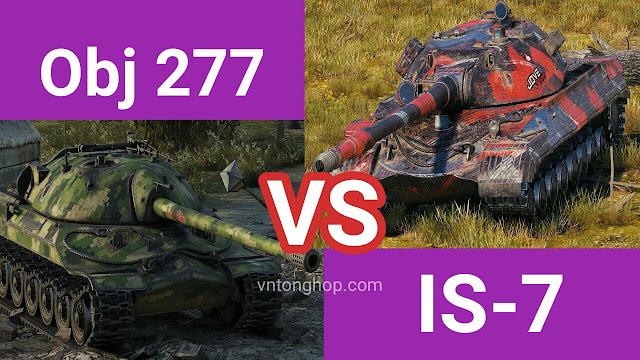 So sánh Obj 277 vs Is-7 world of tanks wotblitz