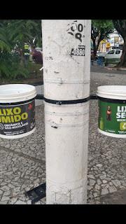 Guarabira virou motivo de piadas nas redes sociais com a implantação de coletores de lixo no centro da cidade