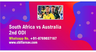 South Africa vs Australia 2nd ODI 100% Sure Prediction Tips