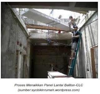 Menaikkan panel lantai Baliton-CLC