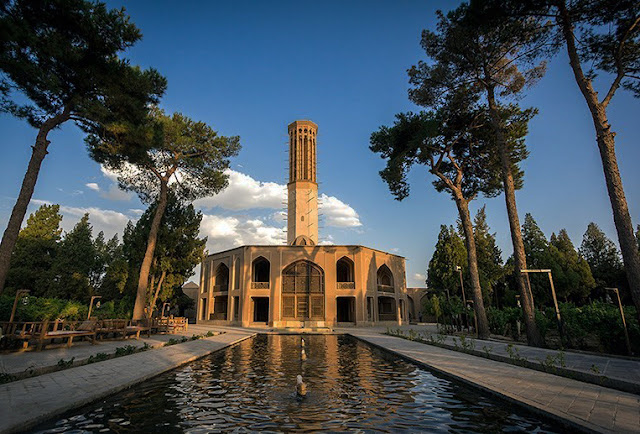 Dowlat Abad Garden in Yazd, Iran.
