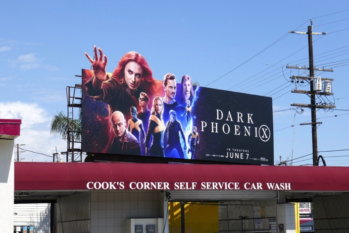 X-Men Dark Phoenix extension billboard