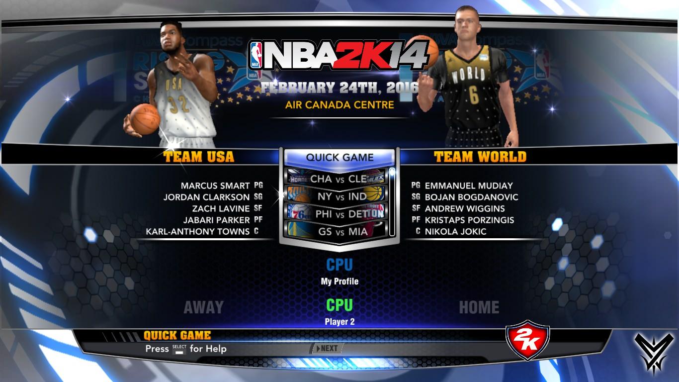 NBA 2k14 Ultimate Custom Roster Update v6.3 : February 25th, 2016 - All Star Weekend - HoopsVilla