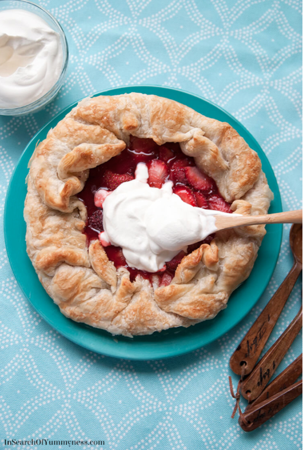 Maple & Strawberry Galette