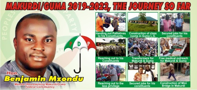 MAKURDI/GUMA 2019-2023,THE JOURNEY SO FAR