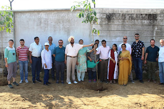 भारतीय स्किल डेवलपमेंट यूनिवर्सिटी के संस्थापक डॉ. राजेंद्रकुमार जोशी की स्मृति में लगााए गए 300 पौधे