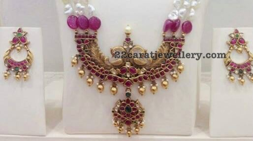 Ruby Pendant Simple Chandbalis