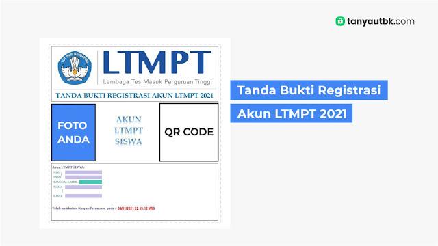 tanda bukti registrasi akun ltmpt 2021