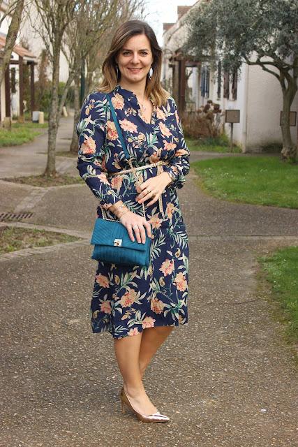 Robe Sézane, look mode, inspiration mode, les petites bulles de ma vie