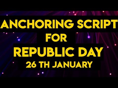 Republic day anchoring script