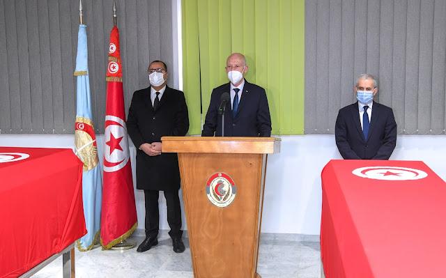 تونس:  قيس سعيد يؤبّن شهداء الوطن