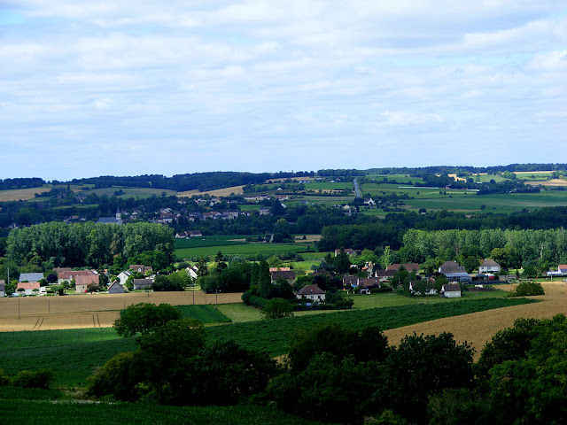 Looking over the Creuse Valley at Barrou.  Indre et Loire, France. Photographed by Susan Walter. Tour the Loire Valley with a classic car and a private guide.
