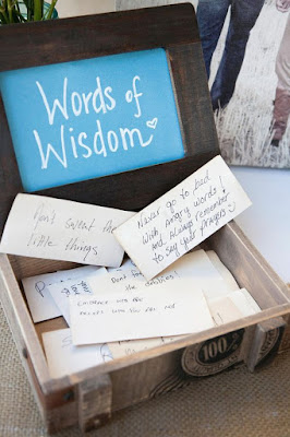 recados e conselhos aos noivos na caixinha de madeira