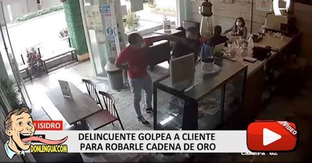 Venezolano atracó a un empresario a punta de pistola dentro de un negocio