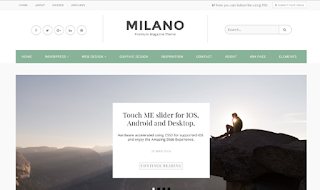 Milano Ultra Blogger Template