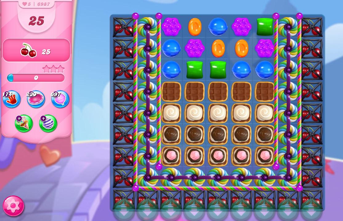 Candy Crush Saga level 6987