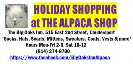 The Alpaca Shop, Coudersport, PA