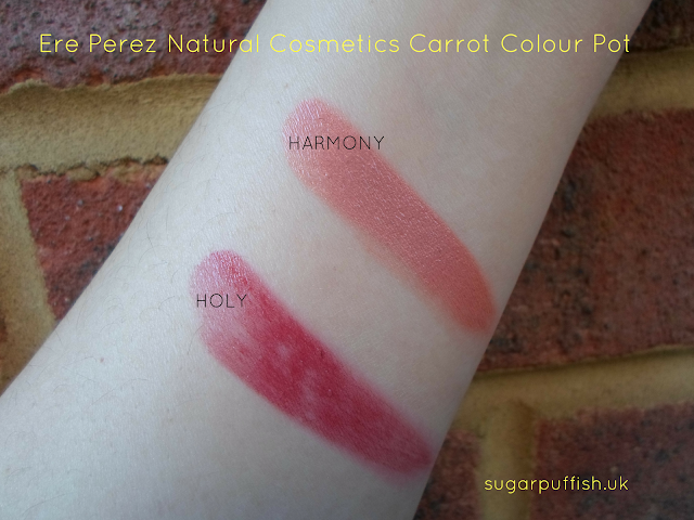 Ere Perez carrot colour pot harmony and holy swatches
