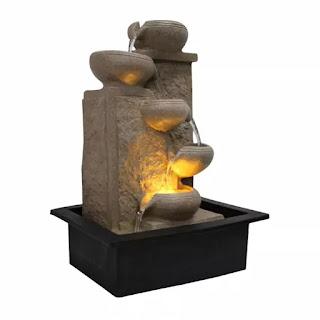 RKMOBILES Five Step Indoor Table Top Water Fountain with Adjustable Speed Control | Best Indoor Water Fountains | Best Water Fountains for Home in India