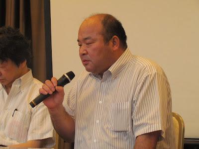 シンポジスト 安永孝行氏(安永健太さんの父、元原告)