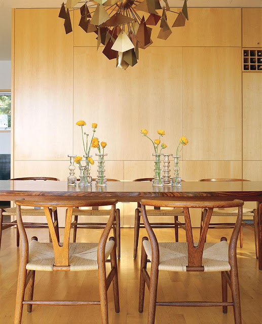 Dining area with mid century furniture