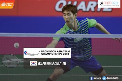Korea Selatan di Badminton Asia Team Championship 2018