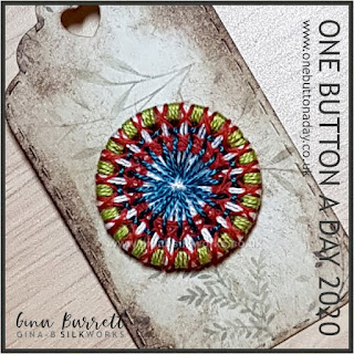 Day 328 - Forest - One Button a Day 2020 by Gina Barrett