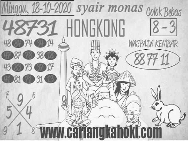 Kode syair Hongkong Minggu 18 Oktober 2020 174