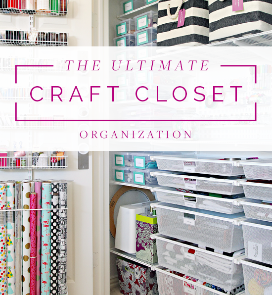 When Cassie First Moved Into Her Home A Year Ago, She Texted Me A Picture  Of Her New Craft Closet. We Both Turned Giddy At The Amount Of Space She  Had To ...