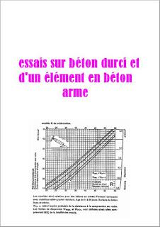 essais sur béton durci et d'un élément en béton arme PDF