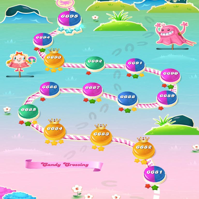 Candy Crush Saga level 6681-6695